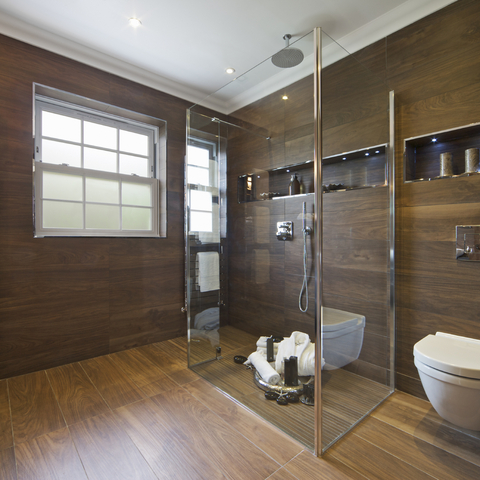 Trend: porcelain wood effect tiles are the ideal choice for an open-plan space